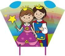Magic Kitedrachen-Taschenschlitten Prinz & Prinzessin 2-teilig