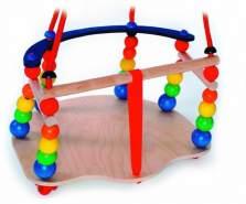 Schaukelspielzeug Gitterschaukel mit Perlen bunt BxLxH 360x365x240mm NEU