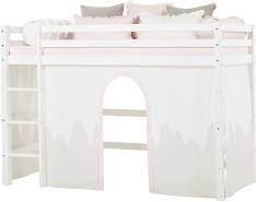 Hoppekids Wonderland Vorhänge für Mittelhoches Bett, Baumwolle, Winter Wunderland, 90 x 200 cm