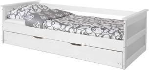 Ticaa Sofabett mit Auszug Theodor Kiefer 100 x 200 cm - weiß