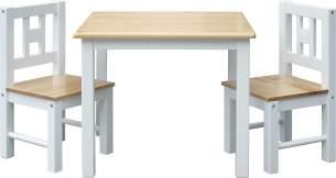 IB Style 'Luca' 3-tlg. Kindersitzgruppe weiß/natur