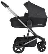 EasyWalker 'Harvey' Kombikinderwagen3in1 Set Night Black mit Babywanne, Cybex Babyschale