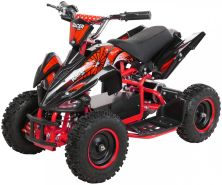 Elektro Quad Miniquad Kinder Racer 1000 Watt Pocket Kinderquad Pocketbike ATV (Schwarz Rot)