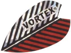 Dart Flight Vortex X silber-rot