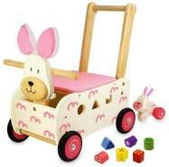 Bartl 101168 - Schiebewagen Hase aus Holz