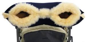 Hofbrucker - Lambskin Handmuff for Stroller navy blue