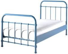 Vipack 'New York' Einzelbett blau, 90x200 cm
