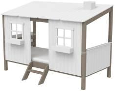 Flexa 'Classic-Haus' Hausbett weiß/grau, 90x200 cm