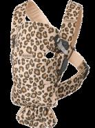 BabyBjörn Babytrage Mini, Baumwolle(4 Farben) Beige/Leopard