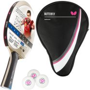 Butterfly 1x Timo Boll Platin 85026 Tischtennisschläger + Tischtennishülle Drive Case + 3 x 3*** 40+ Tischtennisbälle