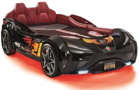 Cilek Autobett GTS 100x190 cm schwarz inkl. Matratze