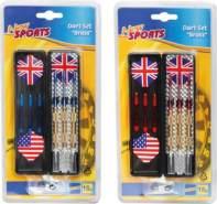 New Sports Dartset Brass, für elektronisches Dart, 3 Stück, 18 g, ca. 17,5x9x1,6 cm, ab 14 Jahren