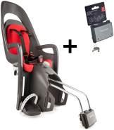 Hamax 'Caress' Fahrradsitz inkl. Rahmenhalterung grau/rot