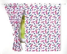 BabyLux 'Feder' Vorhänge mit Schlaufen, pink
