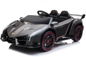 Kidcars Kinder Elektro Auto Lamborghini Veneno 4x35W 12V 10 Ah 2. 4G RC Bluetooth Grün