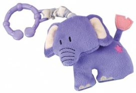 Kinderwagenaufhänger Elefant 10 cm lila
