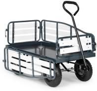 Waldbeck Ventura Bollerwagen Schwerlast 300 kg wetterfest Stahl WPC Schwarz