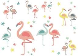 anna wand 'Funny Flamingos' Wandsticker / 2 DIN A4 Bögen