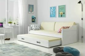 Stylefy Tore Funktionsbett 80x190 cm Weiß Weiß