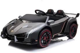 Kidcars Kinder Elektro Auto Lamborghini Veneno 4x35W 12V 10 Ah 2. 4G RC Bluetooth Schwarz