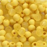 Kunststoffperlen, D: 6 mm, Lochgröße 2 mm, Gelb, 40g, ca. 150 Stück