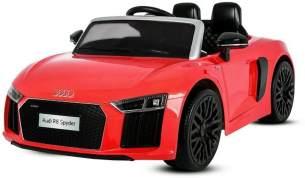Kidcars 'Audi R8 Spyder' Lizenz Kinder Elektroauto, 2x 35W, 2x 6V (12V), 2.4GHz, RC, EVA Softreifen, rot