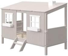 FLEXA Classic Haus mit Einzelbett Grau / Weiß 90-10767-72-01