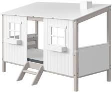 Flexa Classic Haus mit Einzelbett Grau / Weiß