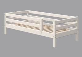 Flexa Classic Bett, mit 3/4 Absicherung und hinterer Absicherung 90 x 190 cm | Weiß lasiert