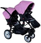 Babyfivestar Geschwisterwagen / Zwillingswagen Pink / Black Schwarzes Gestell!