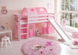 Ticaa Rutschbett Manuel Kiefer Weiß - Rosa-Pink