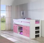 Relita Hochbett Bonny 90x200 pink