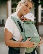 LIMAS 'Plus Jade' Babytrage Mint, 2 Tragepositionen