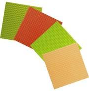 Basis-Bauplatten Set klein Naturtrend / Lego education