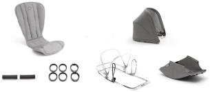 Bugaboo Bee 5 Style Set Komplett Mineral - Limited Edition 2020 Hellgrau