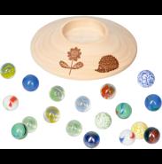 Die Spiegelburg Murmelspiel mit Holzteller Spiegelburg Sommerkinder