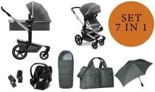 Joolz 'Day+' Kombikinderwangen 4plusin1 2020 in Marvellous Green, inkl. Cybex Babyschale in Soho Grey