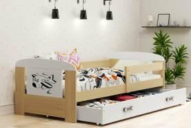 Stylefy Kofi Einzelbett Eiche Motiv IV