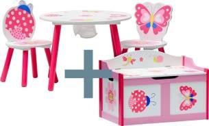 IB Style 'Papillon' 4-tlg. Kindersitzgruppe rosa/weiß