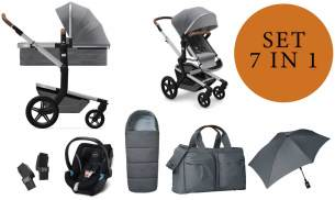 Joolz 'Day+' Kombikinderwangen 4plusin1 2020 in Gorgeous Grey, inkl. Cybex Babyschale in Soho Grey