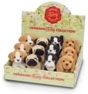 Hermann 'Teddy' Collection, Plüsch-Hund, 12 cm, sortiert - 1 Stück, Auswahl erfolgt zufällig