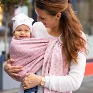 LIMAS | Ring Sling | Geburt bis Kleinkindalter | Bauch- und Hüfttrageweise | diagonal gebundenes Tragetuch Sunshine