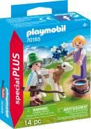 Playmobil Special Plus 70155 'Kinder mit Kälbchen', 14 Teile, ab 4 Jahren