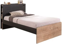 Cilek 'BLACK' Bett Jugendbett 120 x 200 cm schwarz/natur