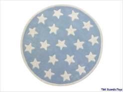 Kids Concept 'Star' Kinderteppich hellblau, Sterne Ø120cm