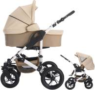 Bebebi Florida | 2 in 1 Kombi Kinderwagen | Hartgummireifen | Farbe: Flocream