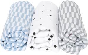 Motherhood 'Palisaden' 3-er Pack Einschlagtücher blau
