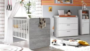 Mäusbacher 'FRIEDA' 2-tlg. Babyzimmer-Set vintage grey