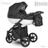 Camarelo Maggio Kombikinderwagen Mg-6 schwarz/ weiss