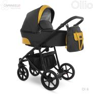 Camarelo Ollio Kombikinderwagen 2in1 schwarz/gelb